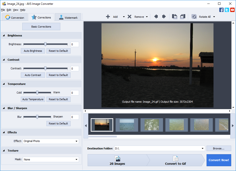 AVS Image Converter is a reliable tool to resize images