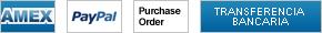 Para pagar con transferencia bancaria/electrónica, orden de compra, PayPal o American Express pulsa aquí
