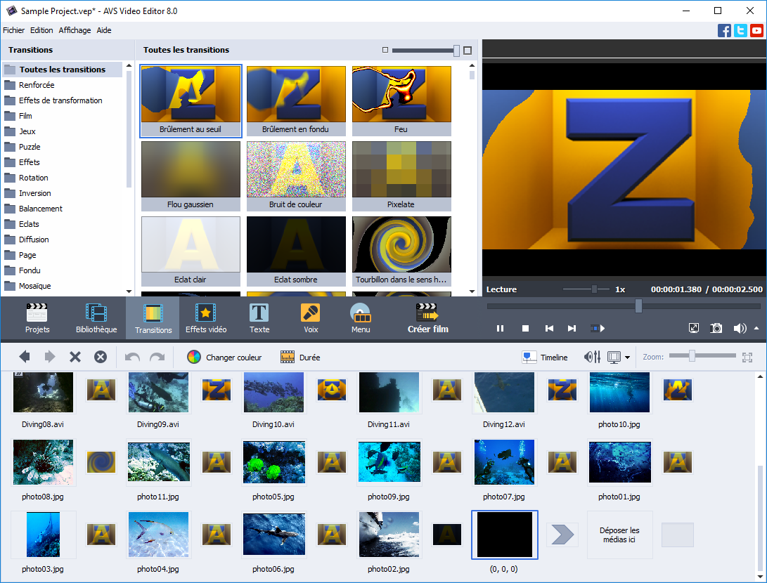 AVS Video Editor 6.2.1.222 + crack (patch) Русская версия.