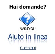 AVS4YOU Aiuto in Linea. Trova le risposte a tutte le tue domande. Clicca qui per leggerle.